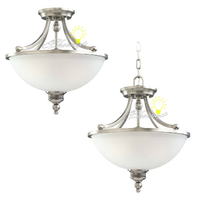 Antique Iron and glass Recessed Lighting in Painted Finish 7423