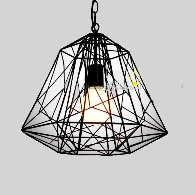 Antique Iron Line Pendant Lighting 7548