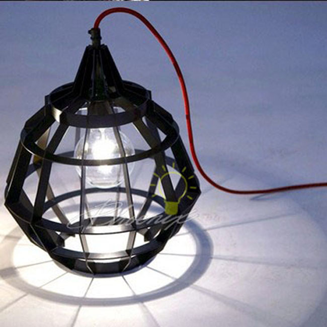 Modern Acrylic Cage Pendant Lighting 7592