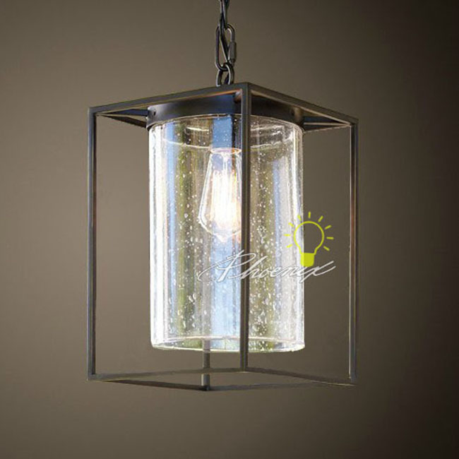 LOFT Buble Glass And Iron Pendant Lighting 7602