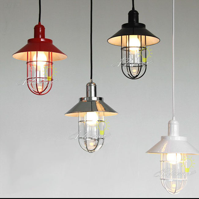 Post Modern Industrial Iron pendant lighting in Painted Finish