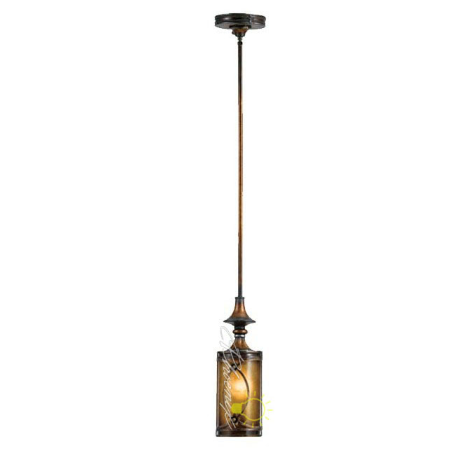 Antique Iron Art Resin and Glass Pendant Lighting 7757