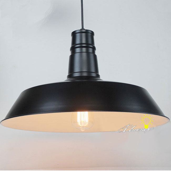 LOFT  Metal Shape Pendant Lighting in Black/White Painted Finish