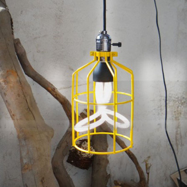 Edison Bulb With Iron Frame Pendant lighting in Painted Finish 7
