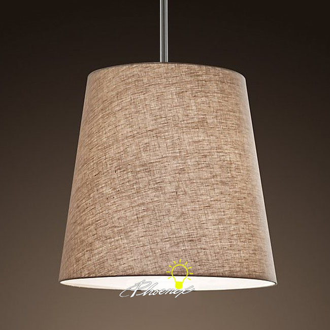 Country Flax Shade Pendant Lighting 7961