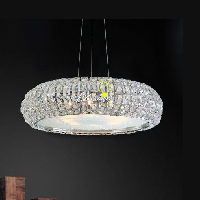 LOKO Round Crystal Chandelier in Chrome Finish 8052
