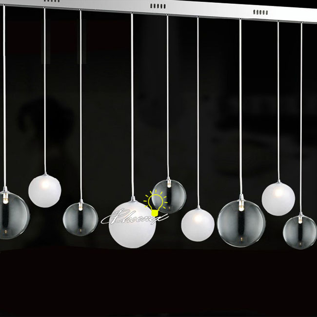 Modern 9 Crystal Orb Pendant Lighting 8085
