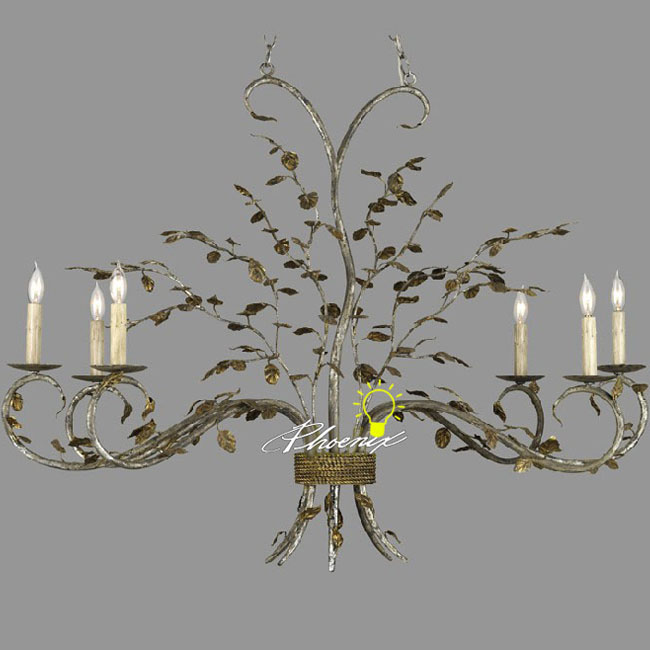 Antique Country Iron Art Chandelier 8250