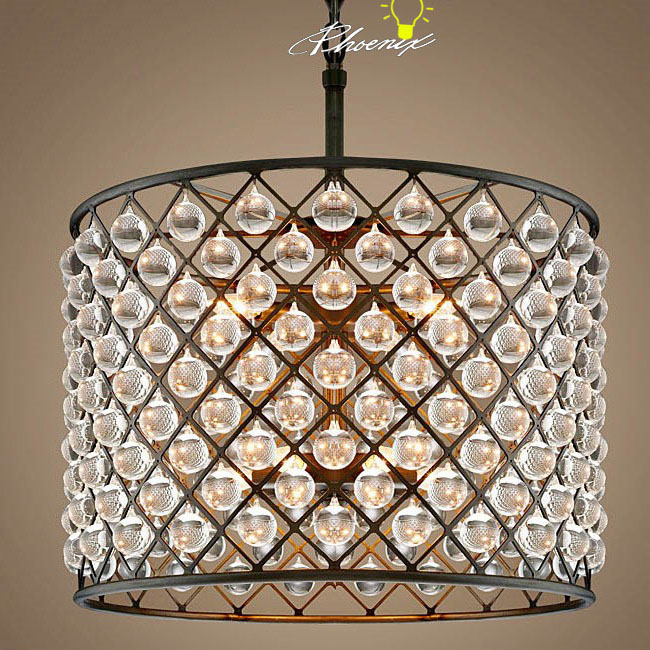 Antique Crystal Water Drops And iron Art Pendant Lighting 8274