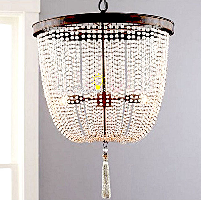 North Iron Art and Crystal Pendant Lighting 8440