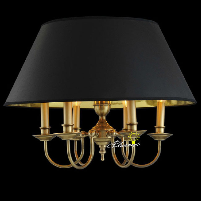 Antique Pure Copper and Fabric Pendant Lighting 8447