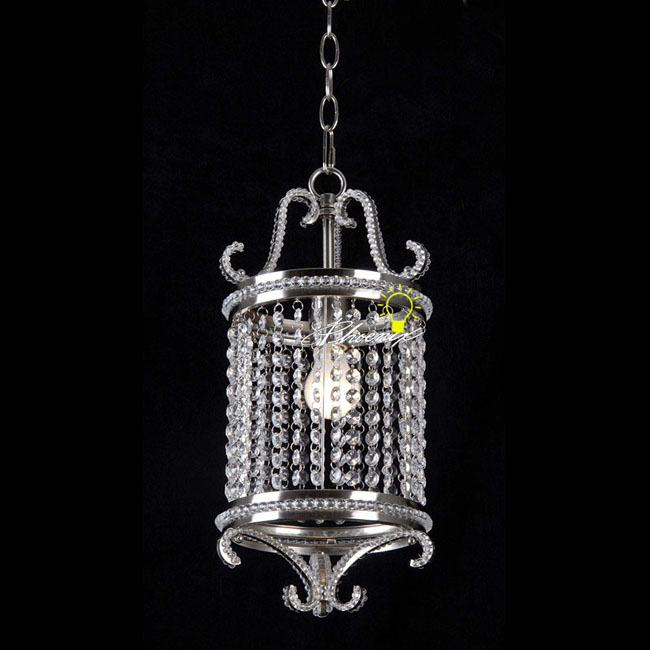 Antique Crystal Pendant Lighting in Chrome Finish 8567