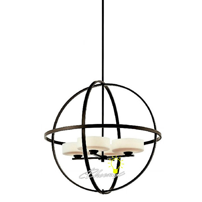 Antique Orb Iron and Glass Pendant lighting 8872