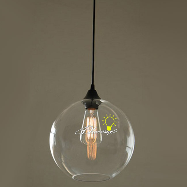 Nordic Simple Orb Clear Glass Pendant Lighting 8884