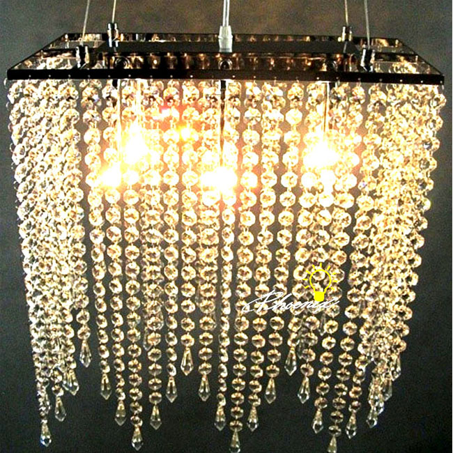 Modern Square Crystal Pendant Lighting 8927