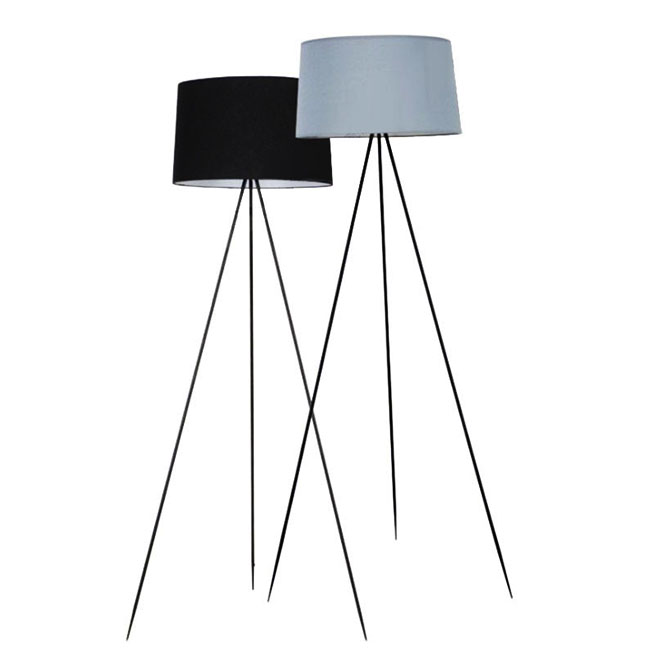 Modern Simple Tripod And Fabric Shade Floor Lamp 9988