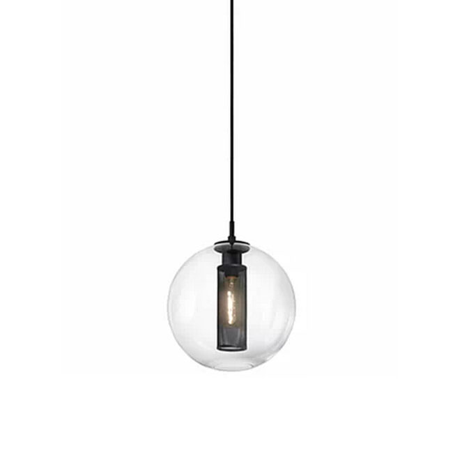 Modern single Clear glass and Iron Web Pendant Lighting in Bakin