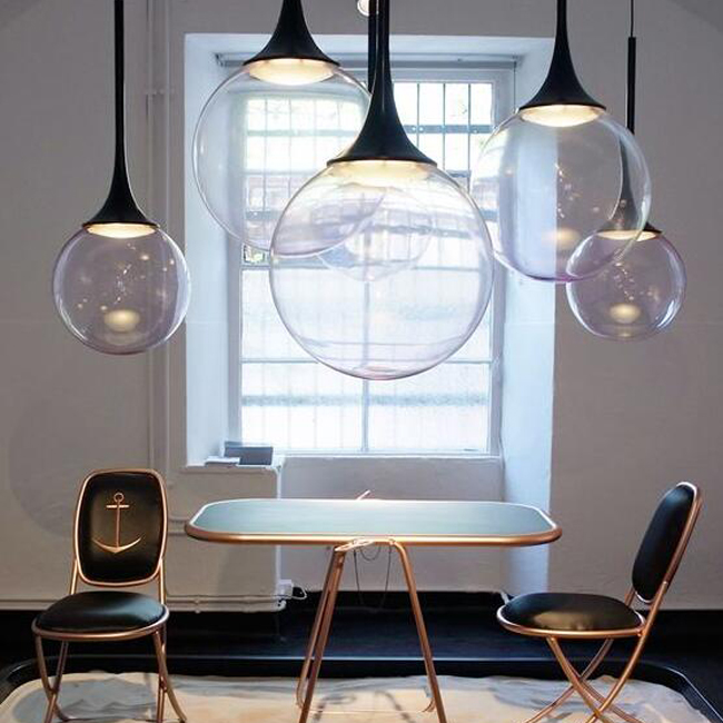 Modern Clear Glass Orb Pendant Lighting 13438