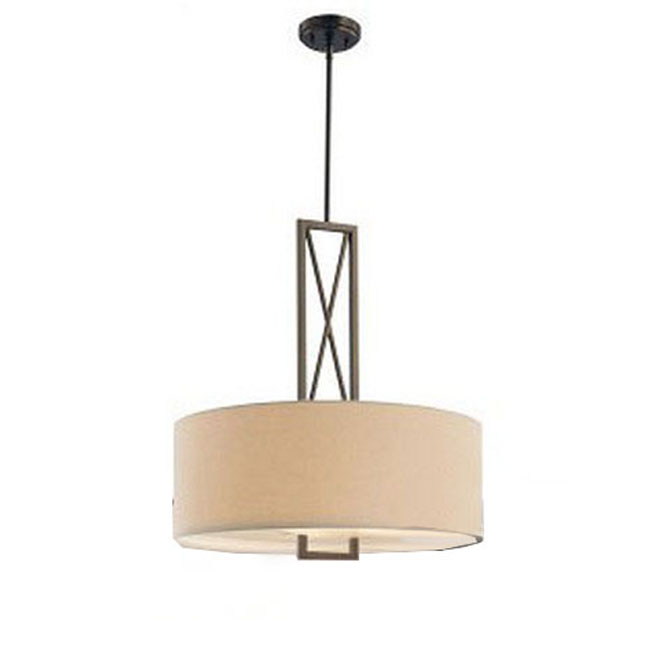 North Flax Round Shade and Metal Ceiling Lighting 9877