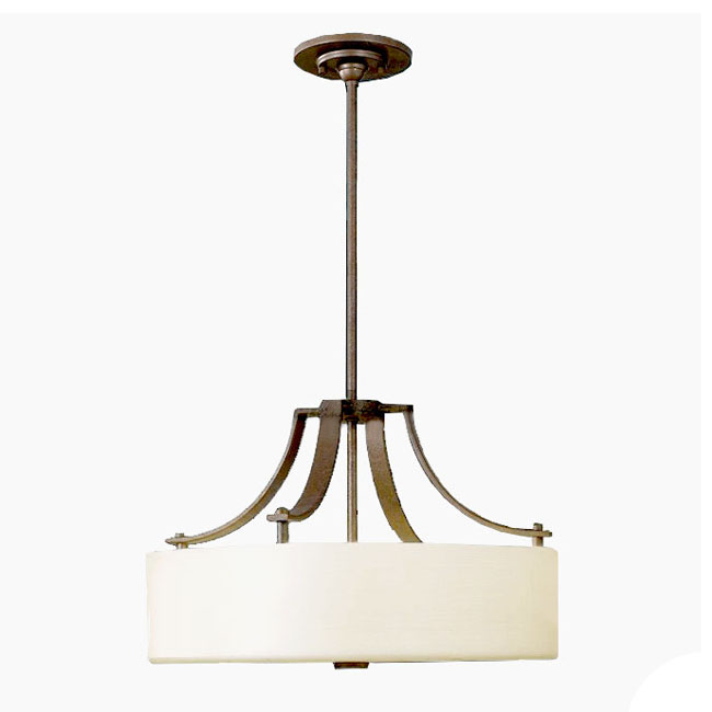 Antique Iron And Fabric Shade Ceiling Lighting 10149