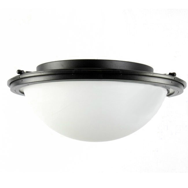 Country Iron and Matte Glass Recessed Lighting 11404