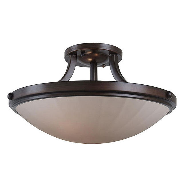 Modern PHX Glass Ceiling Lighting in Brushed Nickel and Baking F