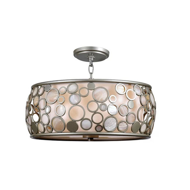 Modern Metal Ring and Shell Ceiling Lighting 11577