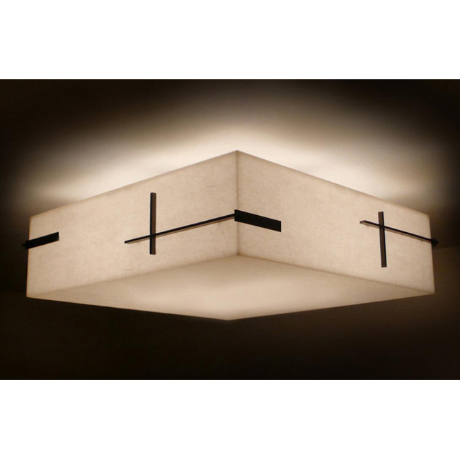 Flax Square Shade Ceiling Lighting 13041