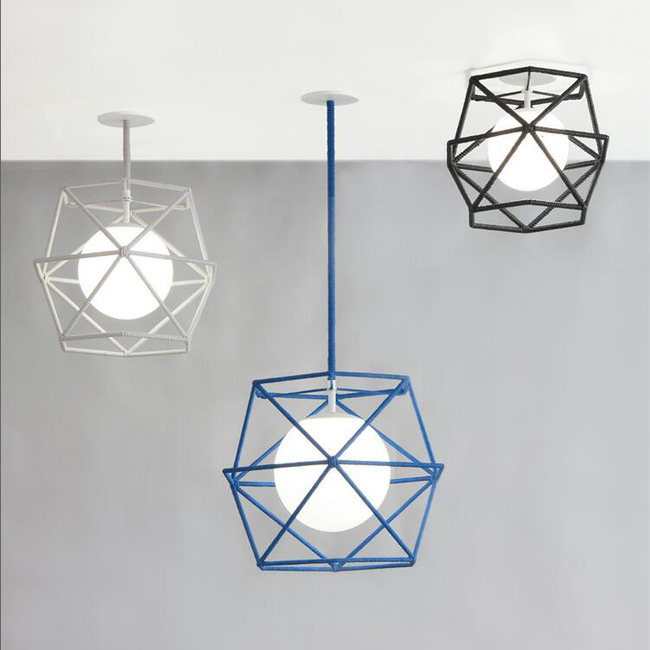 Hexagonal Cage Rope Ceiling Lighting 13772