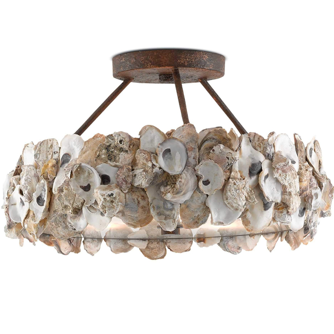 Oyster Semi-Flush Ceiling Lamp 16291