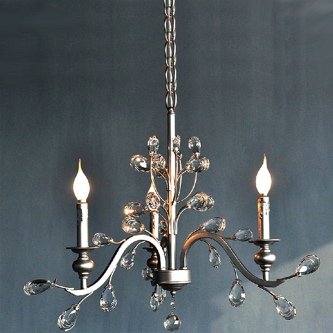 Antique ASFOUR 3 Lights Crystal Chandelier 7499