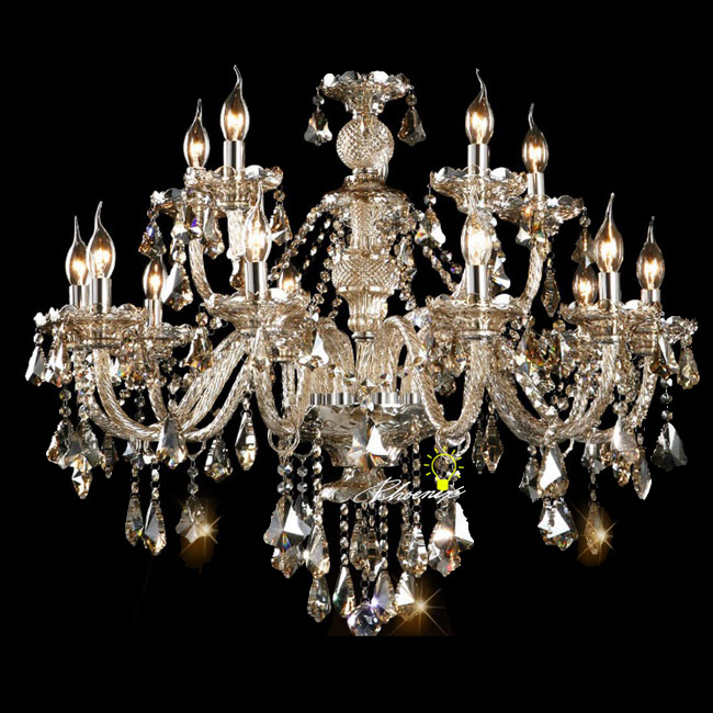 Cognac Crystal 15 Candles Chandelier 7722