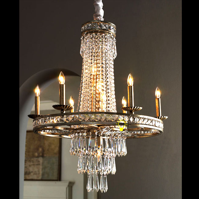 PHX Antique Candles Crystal Chandelier 8685