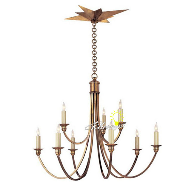Antique Marbor House 9 Lights Copper Pendant Lighting 8723