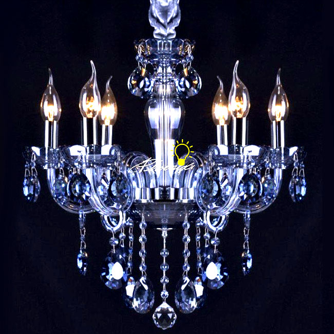 Modern Blue Crystal Tubes and Pendant Chandelier 8937