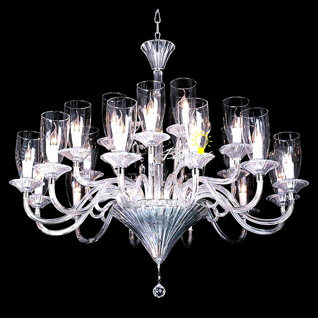 Modern Crystal tube and cup shades Chandelier 8939