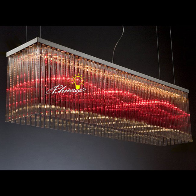 Modern Crystal Tube Chandelier 9032