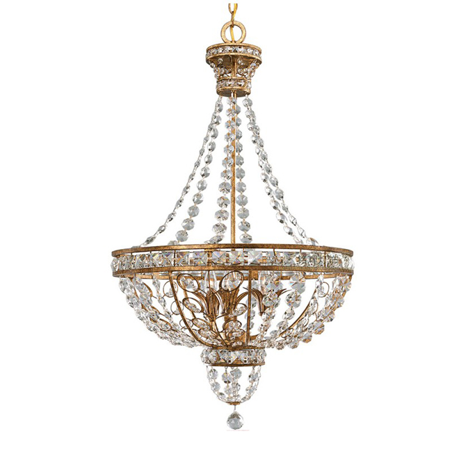 Antique France Country Crystal Chandelier 9261
