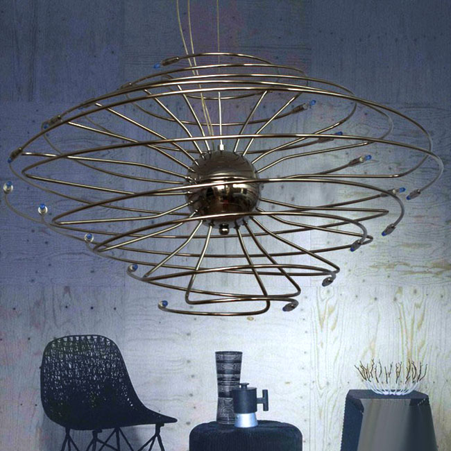 Antique Metal Tornado Chandelier 9399
