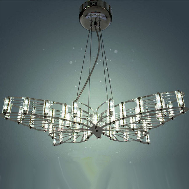 Modern Steel Butterfly Chandelier 9400