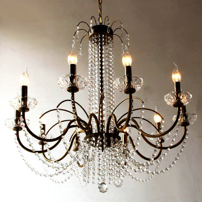Modern Country Crystal and metal Art Chandelier 9784