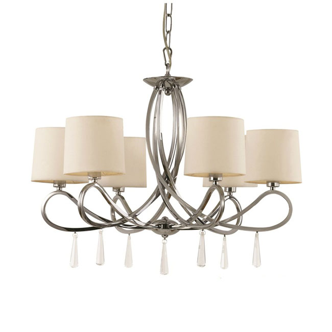 Modern Baked Metal And Flax Shades chandelier 10412