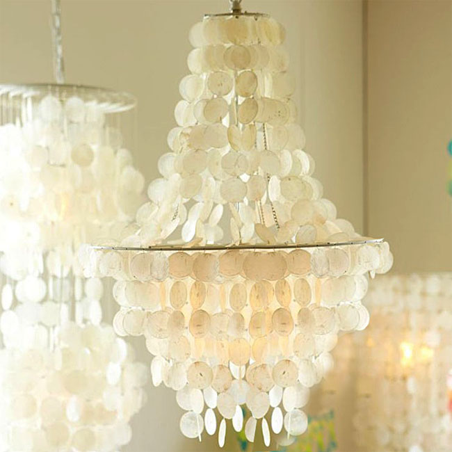 Beachside Original Shell Chandelier 10445