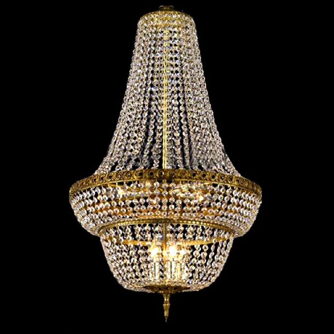 Modern Country Stair Crystal Chandelier in Golden Finish 10566