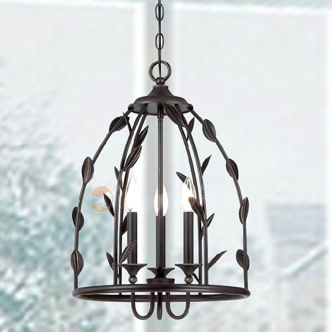 Antique country Iron Art Chandelier in Baking Finish 10608