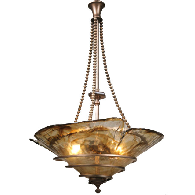 Anrtique Copper and Marble Shade Chandelier 10810
