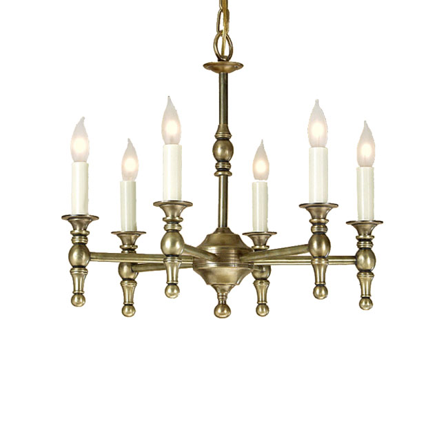 Country Copper and Candles Chandelier in Plating Finish 10938