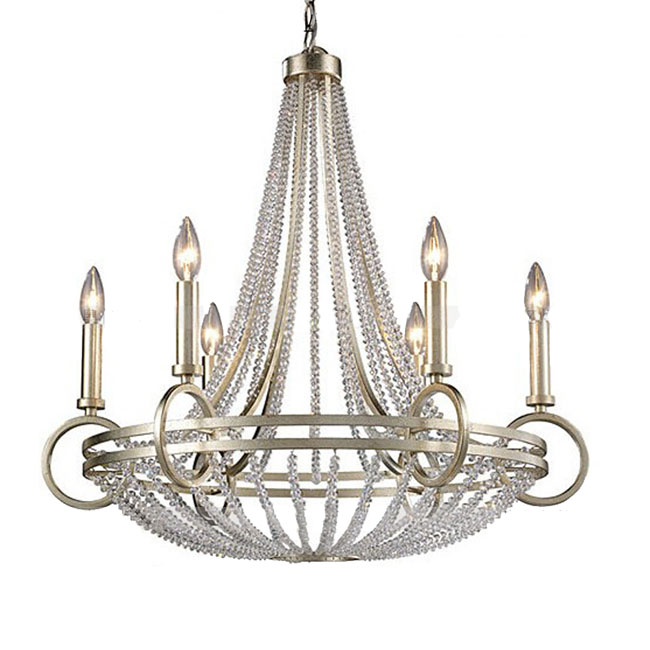 Country Iron and Crystal 6/8 Lights Chandelier 10947
