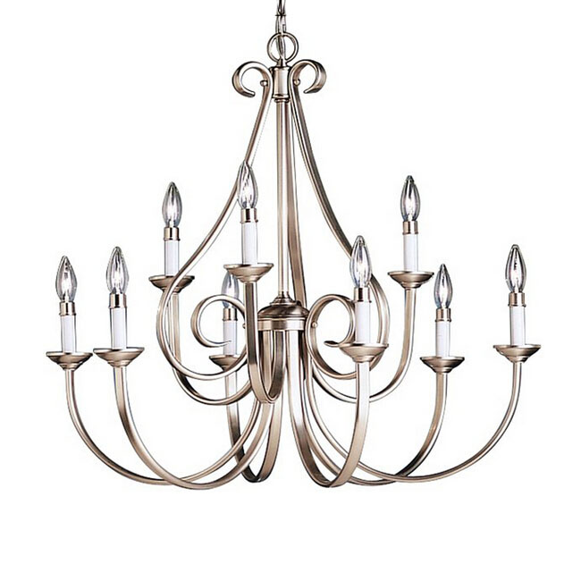 Post Modern Iron Art 9 Lights Chandelier in Baking Finish 11108
