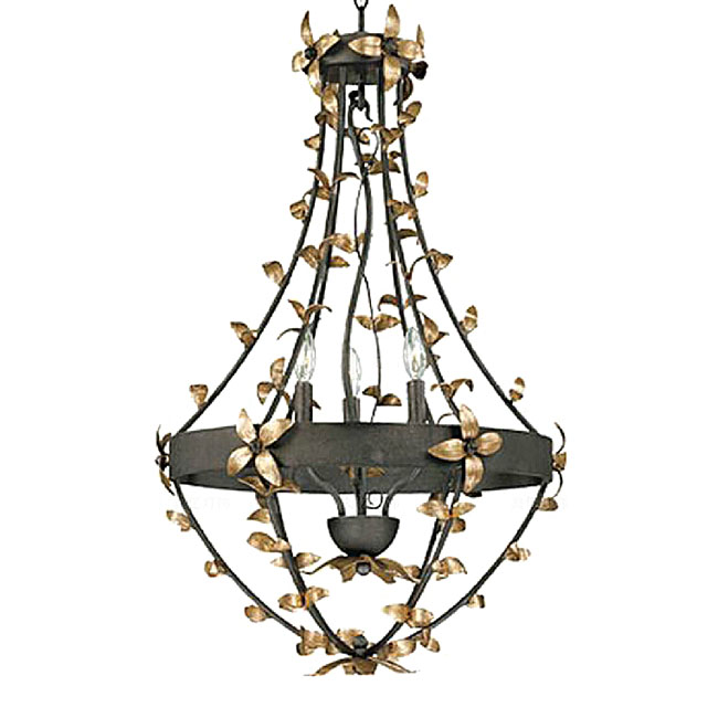 Antique Metal and Iron Art Chandelier in Rusted Finish 11110
